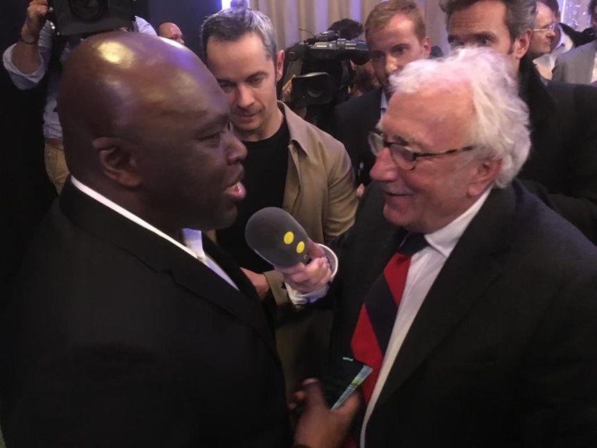 Wilfried Mbappé, le père de Kylian, au micro de Jacques Vendroux