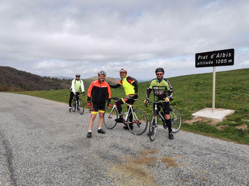 Le Prat d'Albis est prisé des clubs de vélo du département