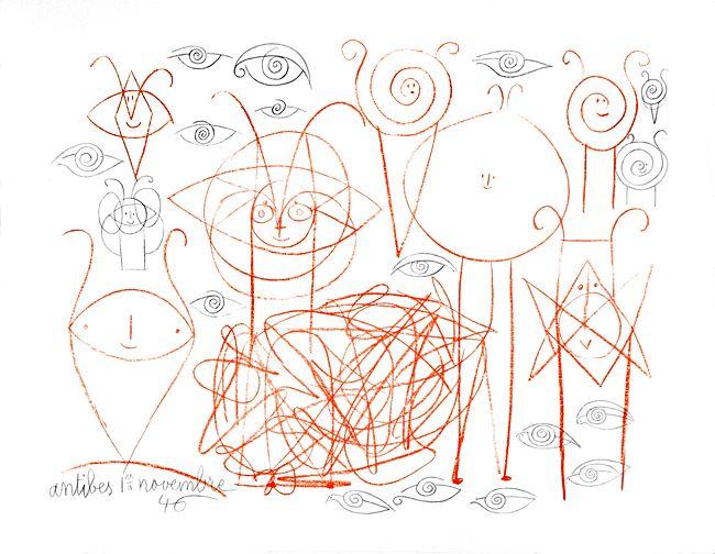 """""""Dessins d'Antibes"""" réalisés par Picasso en 1946"""