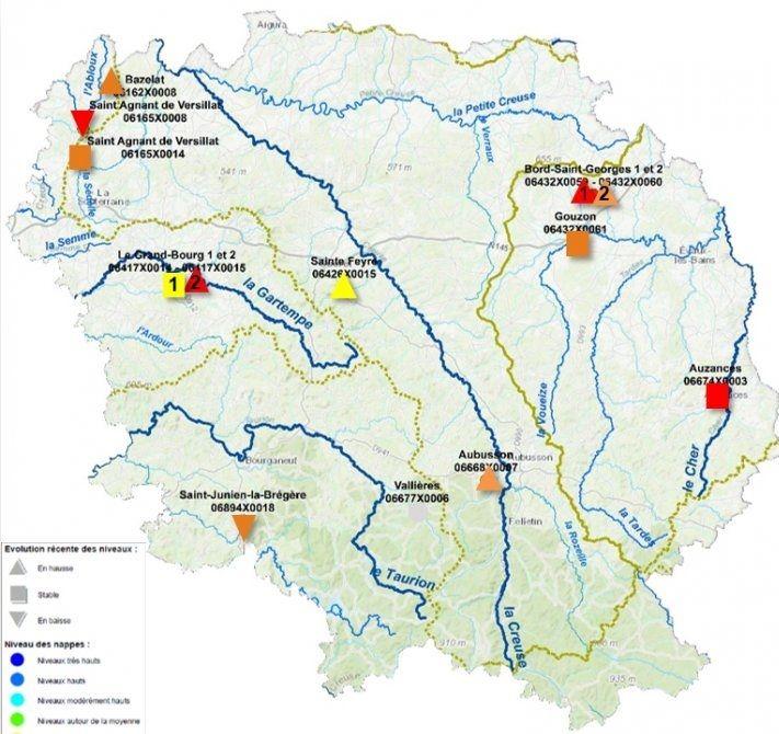 Voici la carte du dernier état des lieux réalisé en Creuse