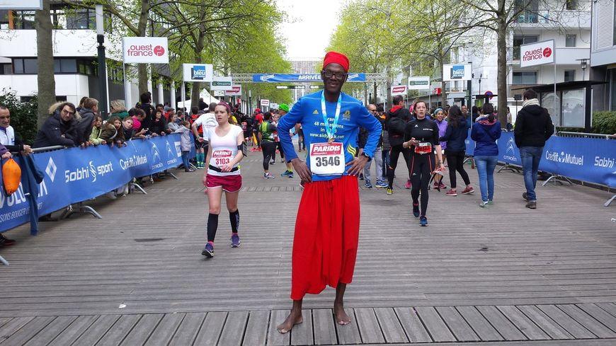 Sidy Diallo, lors de sa première participation au marathon de Nantes