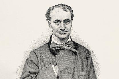 Charles Baudelaire 1821 - 1967 (illustration du XIXe siècle)
