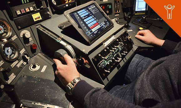 Un simulateur de conduite à la Gare du Nord.