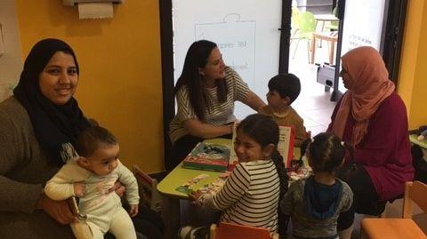 Accueil parents enfants dans le quartier de l'Ariane