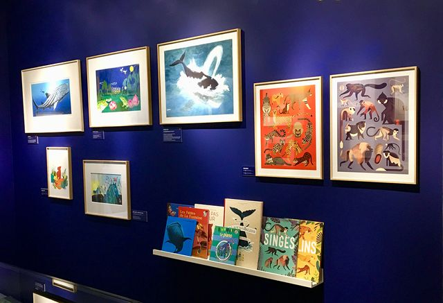 Dans l'exposition Parole aux animaux à la Galerie Gallimard