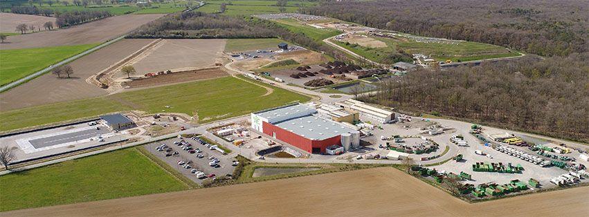 Le centre de recyclage (Sitcom Nord Allier) à Chézy dans l'Allier