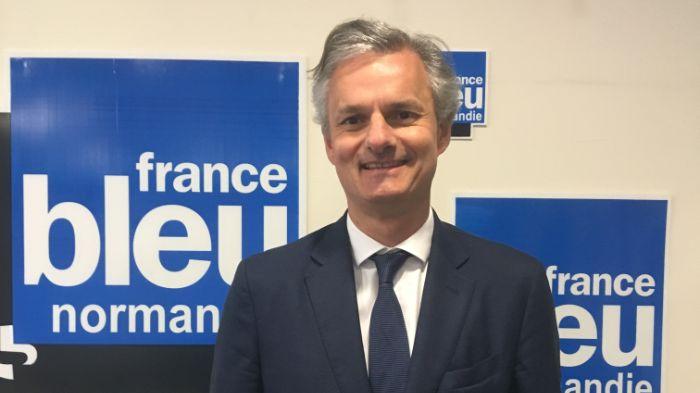 Jean-Baptiste Gastinne, le nouveau maire du Havre, dans les locaux havrais de France Bleu Normandie