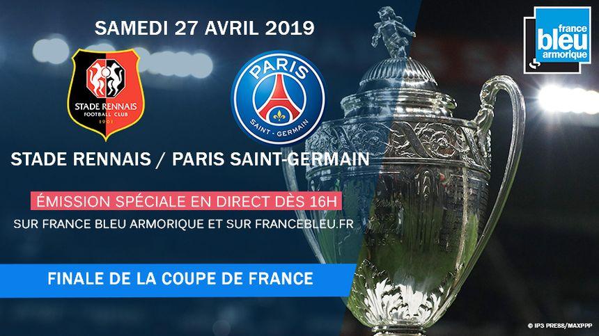 Émission spéciale de 16h à minuit sur France Bleu Armorique à l'occasion de la finale de la Coupe de France.