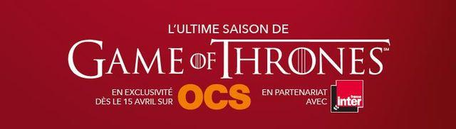 Game of Thrones sur OCS