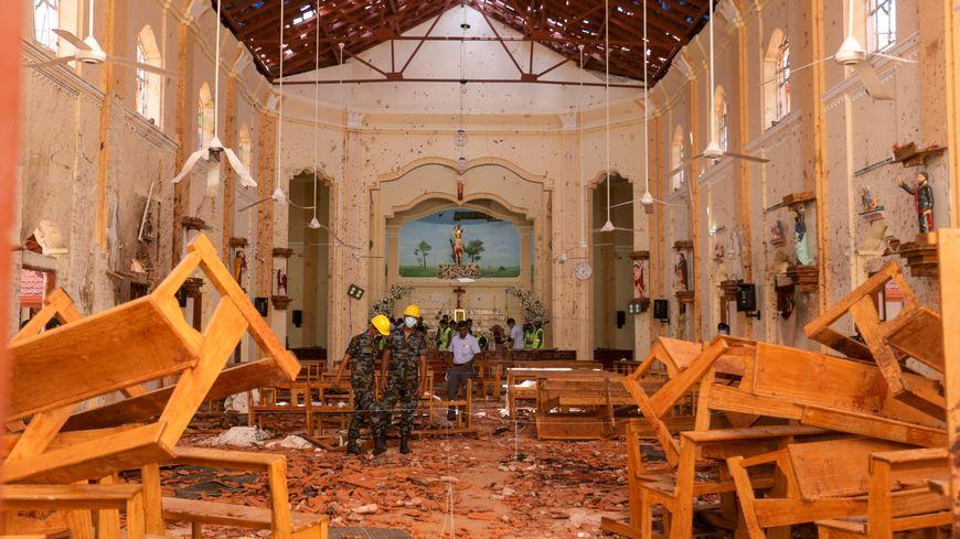 L'une des églises attaquées à Negombo.