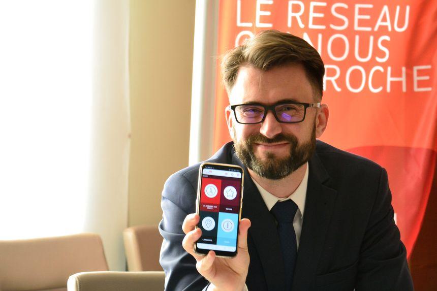La nouvelle application Evolity, présentée par Damien Charlet, vice président de PMA en charge du projet THNS