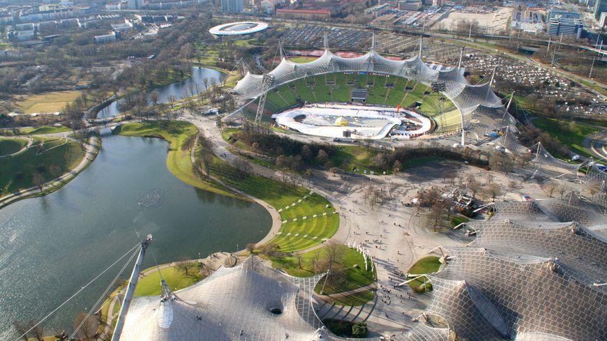 Le parc olympique de Münich où sera installée l'exposition Lascaux 3
