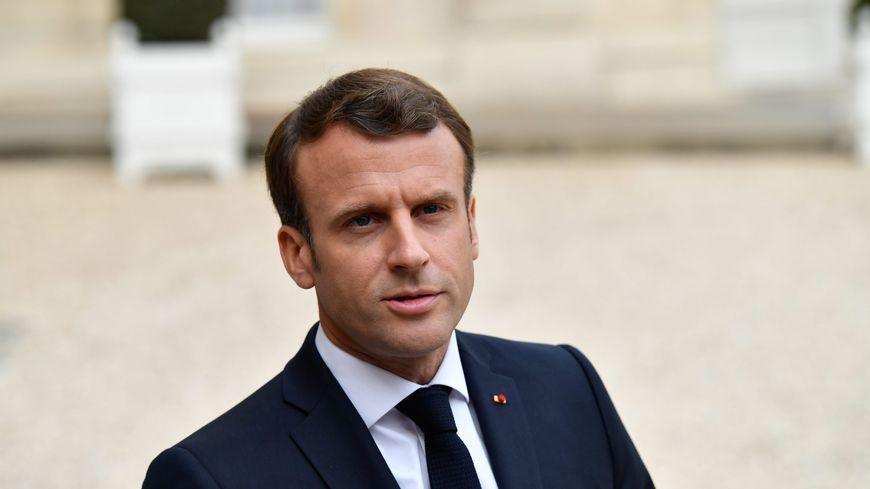 Le président de la République Emmanuel Macron à l'Élysée, le 23 avril 2019