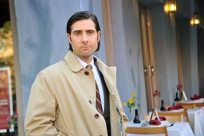 "Jason Schwartzman sur le tournage de ""Bored to death"" en 2010"