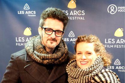 L'actrice, Veerle Baetens et le réalisateur, Olivier Masset-Depasse aux Arcs Film Festival le 15 décembre 2018.