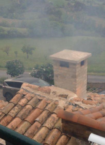 Photo du four depuis le balcon du propriétaire d'en face.