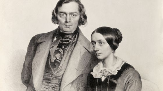 Robert et Clara Schumann par Hofelich