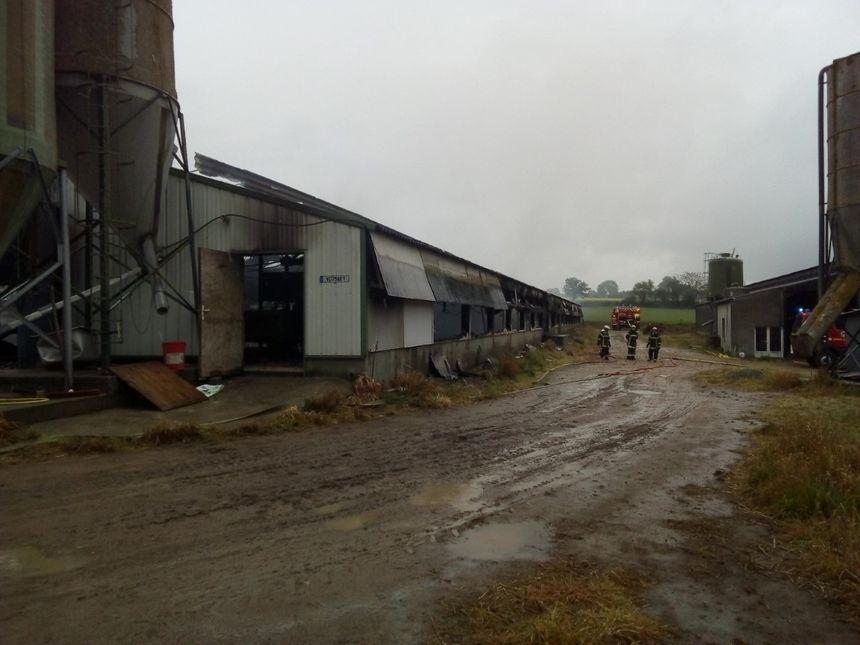 15 sapeurs-pompiers sont intervenus pour ce feu de hangar agricole