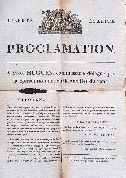 Proclamation de l'abolition de l'esclavage du 11 décembre 1794