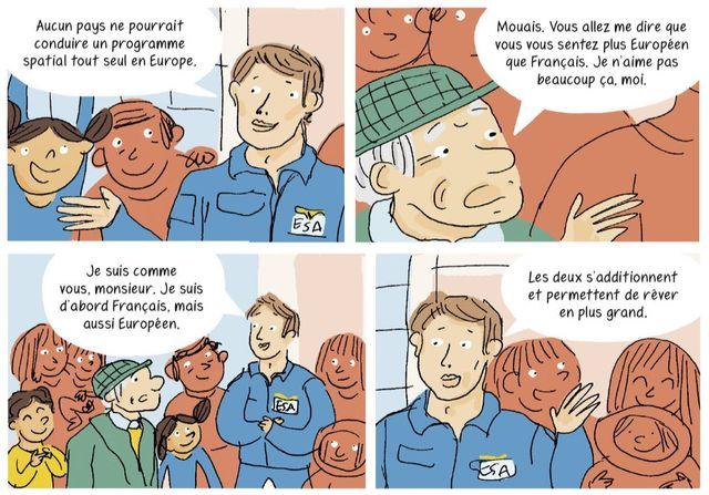 """Thomas Pesquet dans l'une des planches de """"L'Europe en BD"""""""