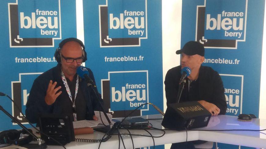 Gaëtan Roussel avec Manuel Bonnefond au Printemps de Bourges