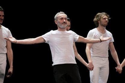 Le danseur et chorégraphe de danse contemporaine, Angelin Preljocaj, en répétition au Théâtre National de Chaillot, le 20 février 2019