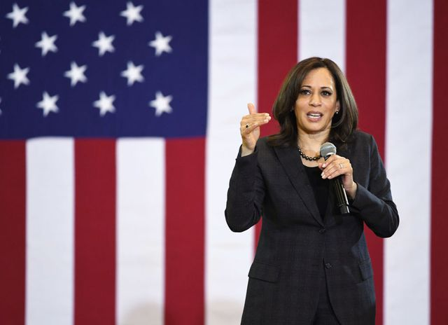 La sénatrice Kamala Harris lors d'un meeting de campagne à Las Vegas le 1er mars 2019