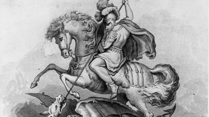 La légende de Saint-Georges triomphant du dragon