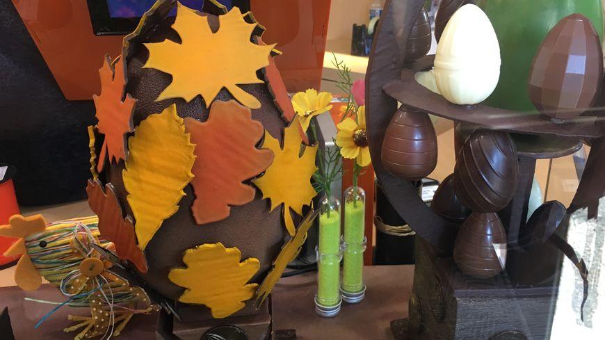 Certaines pièces de la chocolaterie Dumay sont de véritables créations artistiques