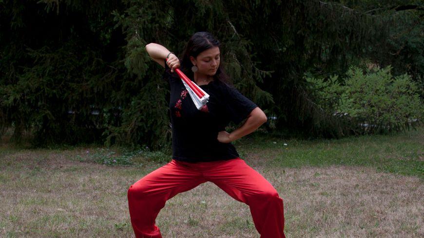 Zoé Cassagnes, médaillée en Tai Chi