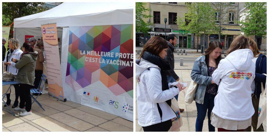 Un stand de sensibilisation a été dressé vendredi sur la place de Jaude à Clermont