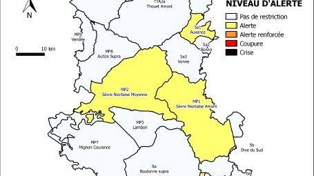 Carte de la préfecture des Deux-Sèvres