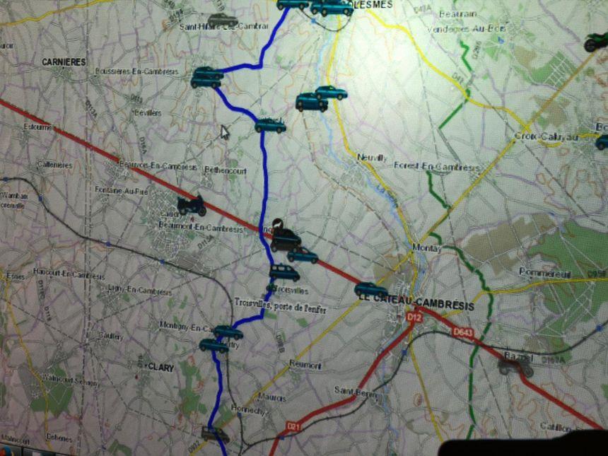 C'est la carte de surveillance des véhicules déployés sur le terrain.
