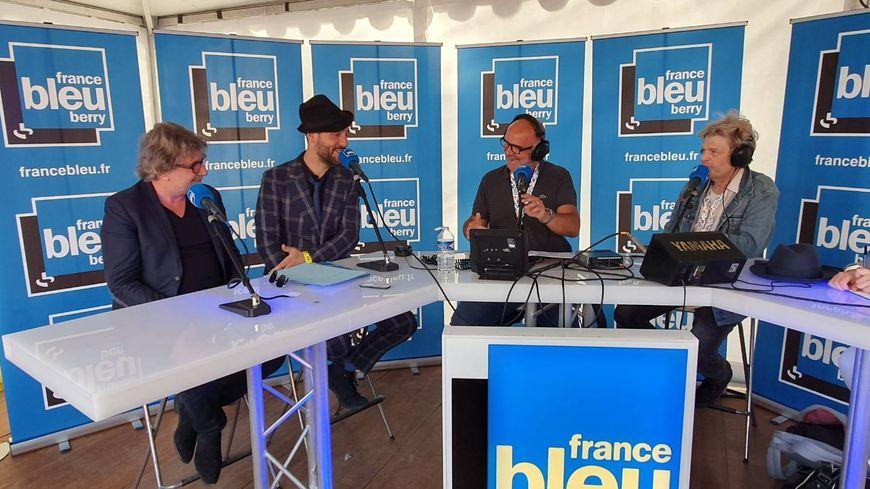 Charlie Winston sur le plateau de France Bleu Berry au Printemps de Bourges