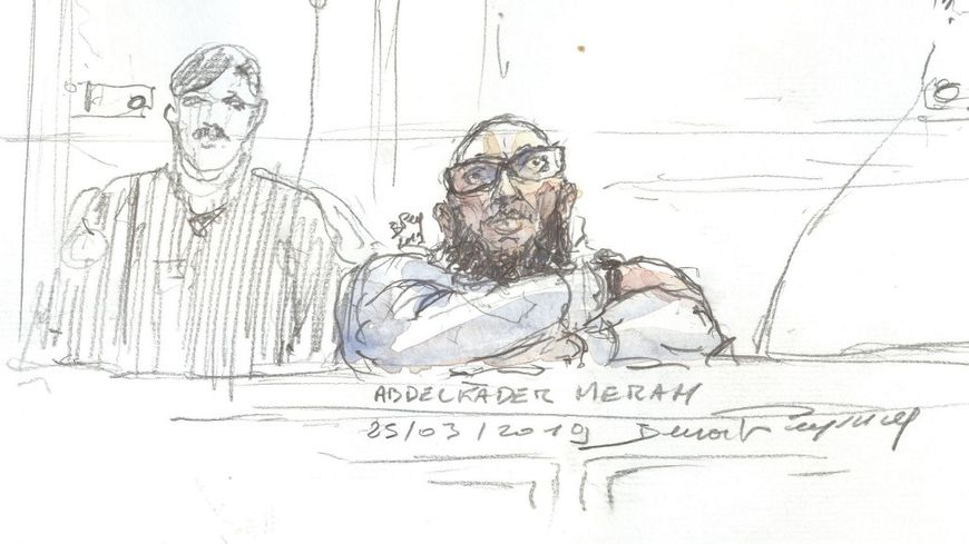 Le frère de Mohamed Merah, Abdelkader, au début de son procès en appel.
