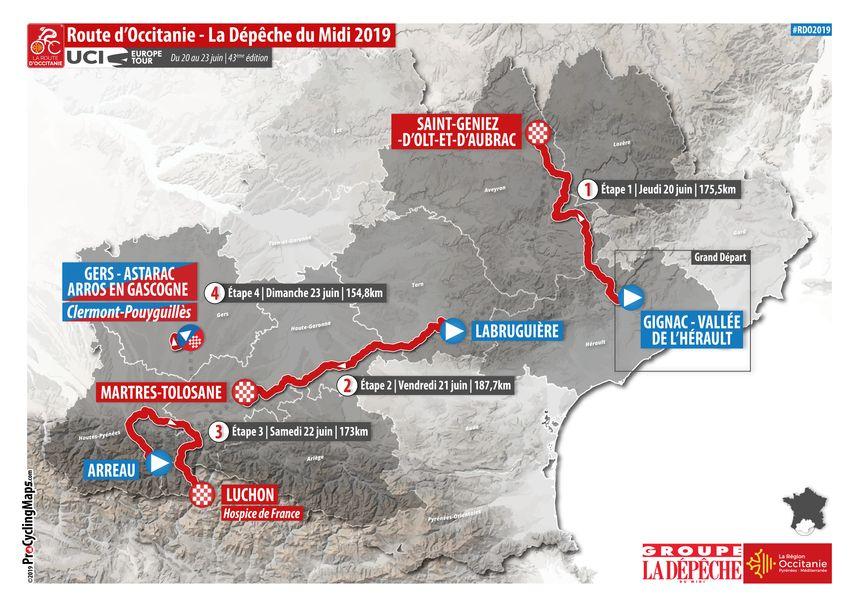 Le parcours général de la Route d'Occitanie 2019 - Aucun(e)