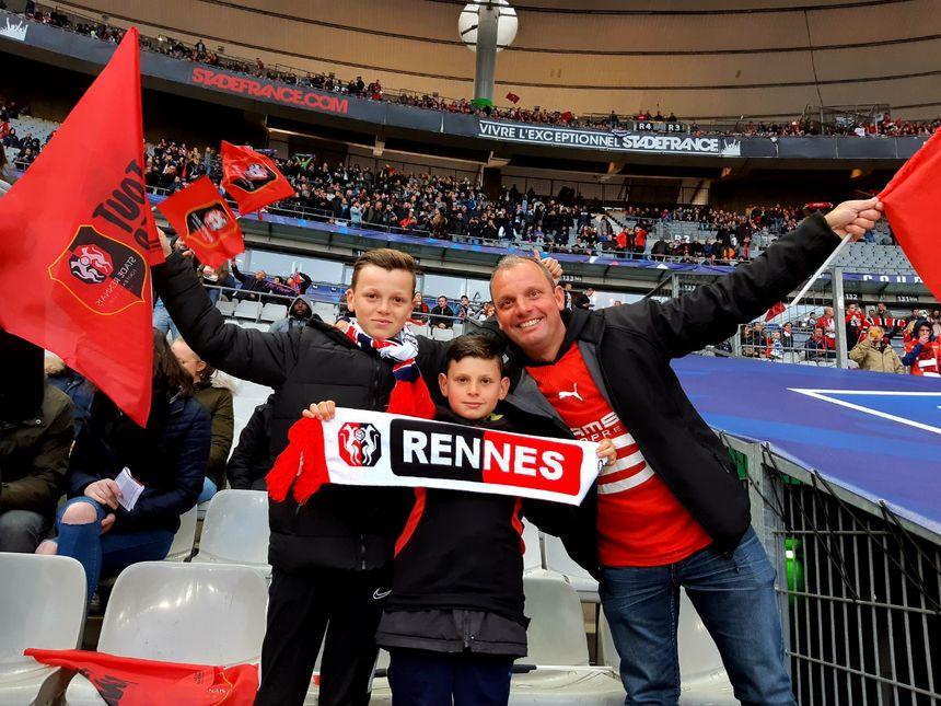 Les supporters rennais au Stade de France !