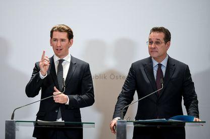 Le chancelier autrichien Sebastian Kurz et le vice-chancelier Heinz Christian Strache à Vienne le 4 décembre 2018