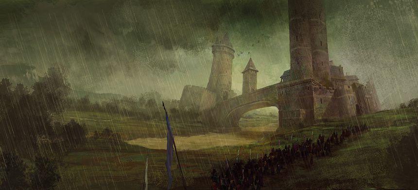 Un des châteaux dessinés par Marc Simonetti