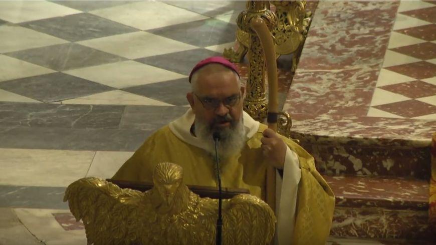 Monseigneur Jean-Pierre Cattenoz lors de son homélie le 18 avril dernier en la Métropole Notre-Dame-des-Doms