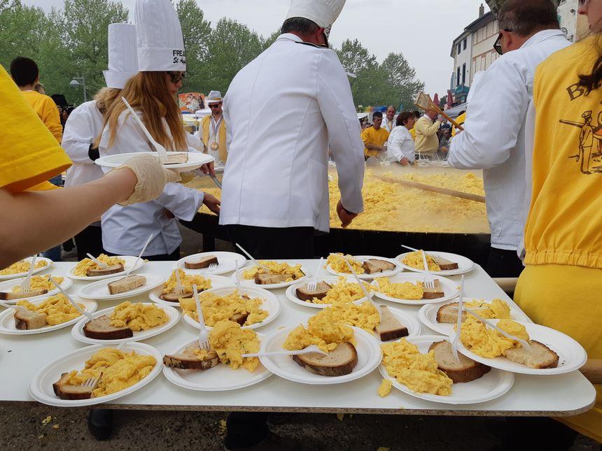 6.000 assiettes ont été distribuées.