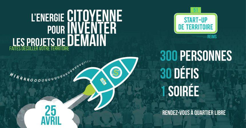 Soirée Start Up de Territoire à Reims, le 25 avril 2019