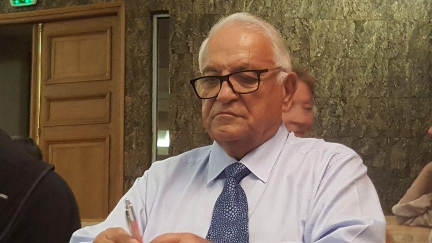 Claude Fousse lors du procès des fausses factures de l'USO Foot en octobre 2018