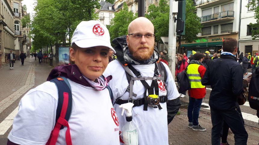 Des street-medics venus de Besançon pour cet acte 24 strasbourgeois
