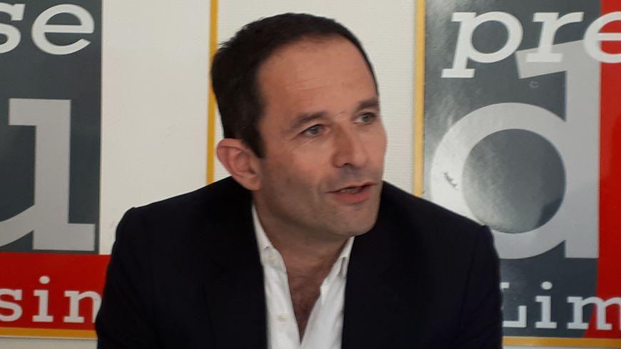 Benoît Hamon, en campagne à Limoges ce lundi