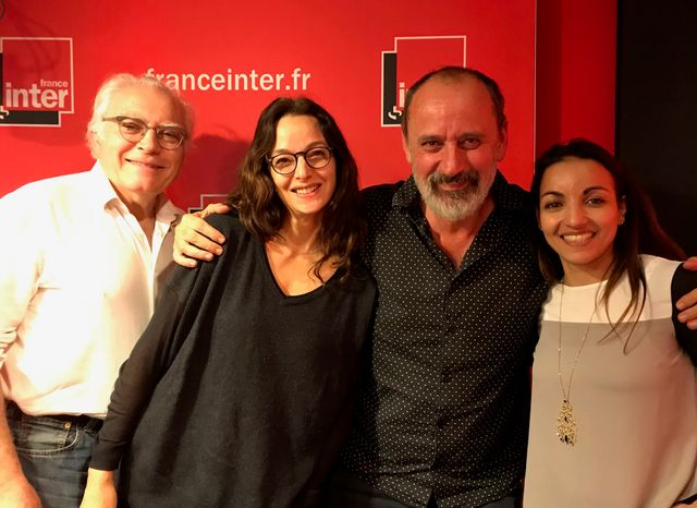 """""""Vous Les Femmes"""", de g. à d. : Albert Algoud, Eliette Abecassis, Daniel Morin, Sarah Ourahmoune"""