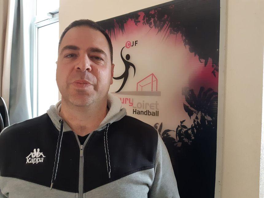 Christophe Cassan, entraîneur des handballeuses de Fleury-les-Aubrais