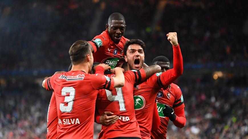 La joie des Rennais après leur victoire en finale de la Coupe de France !