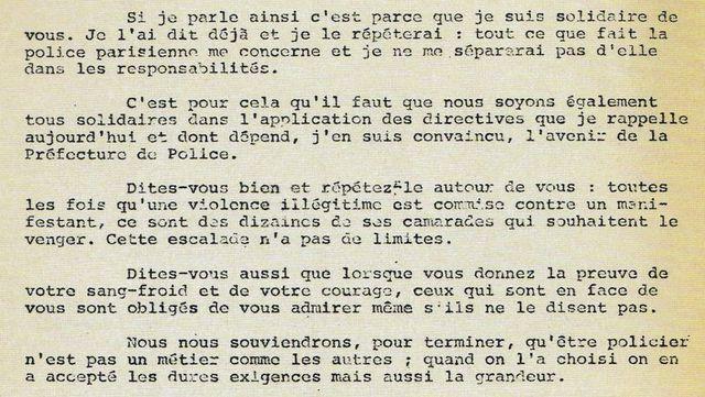 Extrait de la lettre du préfet Grimaud