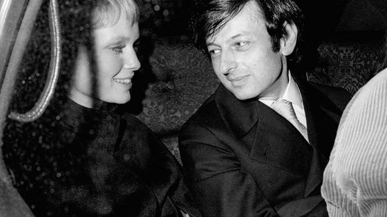 Andre Previn et son épouse Mia Farrow en 1969 à New York City.